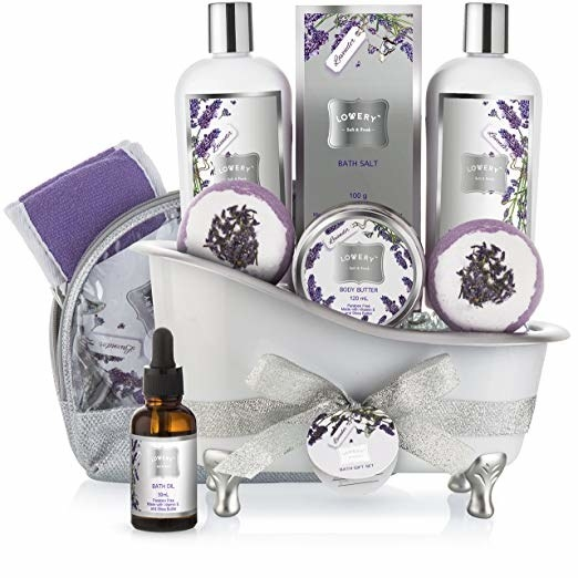 the home spa kit packaged in a plastic bath tub