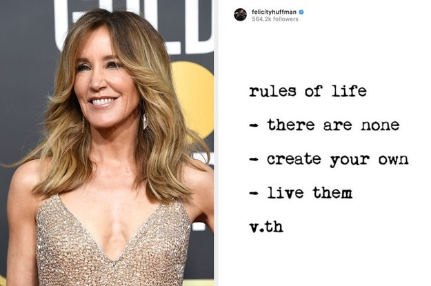 14 Felicity Huffman Social Media Posts That Suddenly Haven't Aged Well