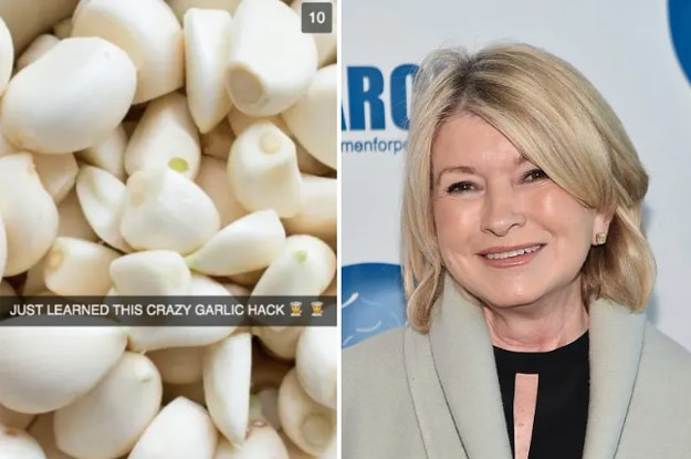 Martha Stewart Has A Clever Trick For Peeling Garlic That Saves Serious Time