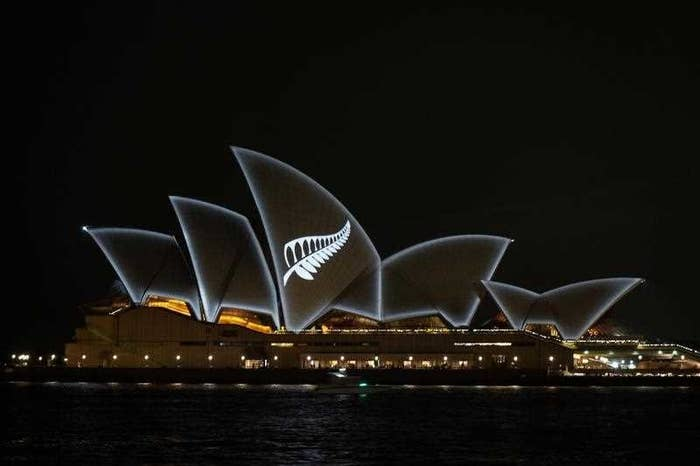 Christchurch Silver Fern Projected Onto Sydney Opera House As