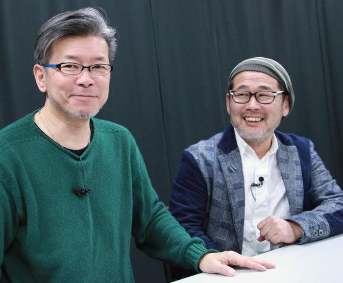嬉野雅道ディレクター(左)と藤村忠寿ディレクター