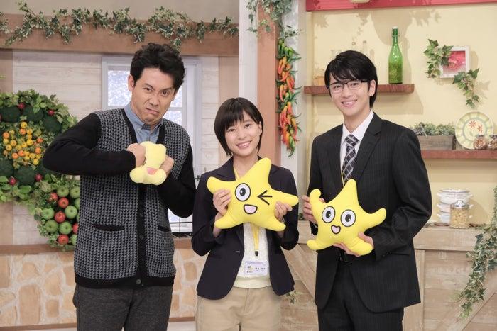 「チャンネルはそのまま!」キャストの大泉洋、芳根京子、飯島寛騎。