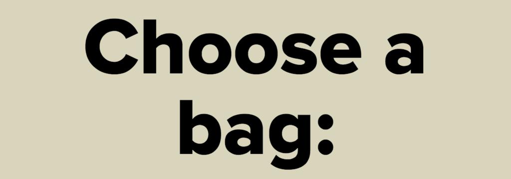 Choose a bag: