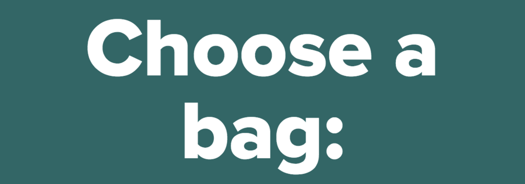 Choose a bag:<br />