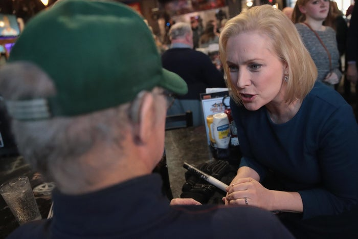 Kirsten Gillibrand at a campaign stop at the Chrome Horse Saloon on February 18, 2019 in Cedar Rapids, Iowa.