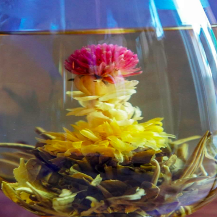 flower inside tea