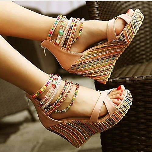 fd92fc157e1 Beaded wedge sandals that'll make you feel like you just stepped directly  into a scene from Mamma Mia!
