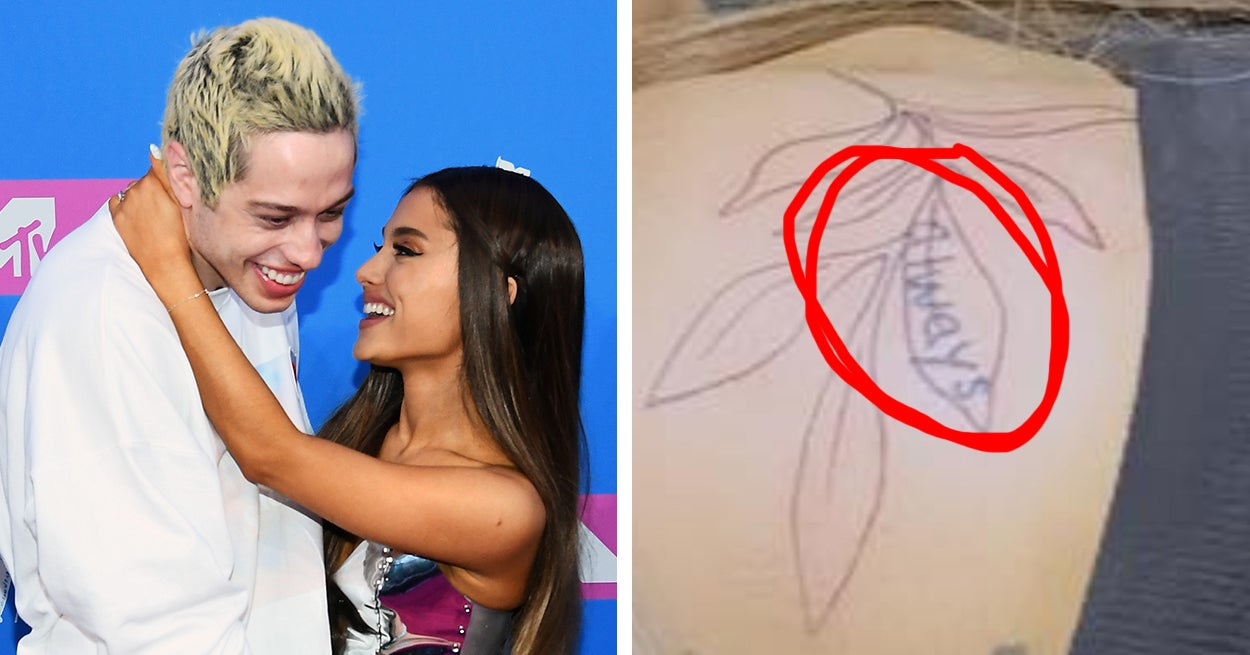 """Ariana Grande Is """"Evolving"""" A Tattoo Apparently Written In Pete Davidson's Handwriting"""