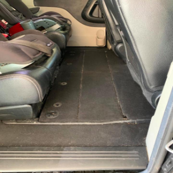 the same van floor looking clean