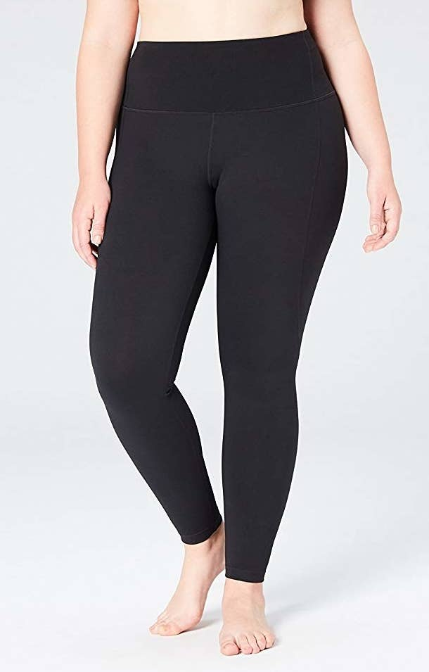 """Promising review: """"These leggings are AMAZING. I am 6'0"""" and it can be really hard to find leggings that are either long enough for my legs OR that have a high enough waist to be considered actually high-waisted on a taller frame. These leggings do both of those things! I usually use leggings for weightlifting, so I needed to make sure these would stay up during squats and other leg dominant motions, and these stayed in place during my whole workout with ease. And one last thing, the fabric on these is super soft, I absolutely love it!"""" —Carolyn Price: $45.50+ (available in sizes XS-3X and in two colors)"""