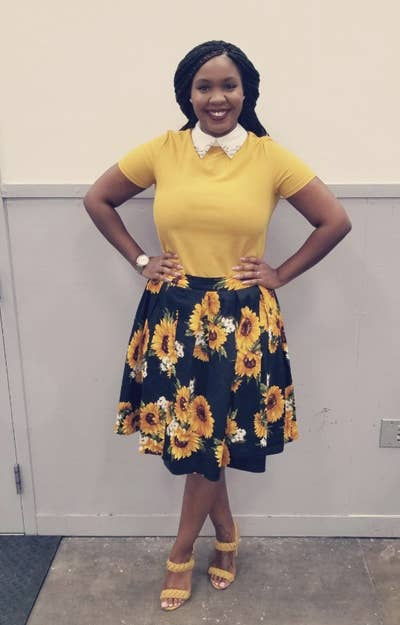 d1f4fe2e609e A modest pleated A-line skirt for the office