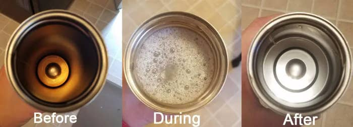"""Promising review: """"WITCHCRAFT. My Hydroflask had gotten *gross* inside, to the point that I though it was damaged and had to be replaced. But I figured I'd try this first. Filled the Hydroflask with boiling water and dropped in a tablet (learn from my mistakes and leave PLENTY OF ROOM because this thing fizzes and foams up and boiling foam is not fun.) I'm impatient and was fascinated by the crud that started to float up, so I dumped it after 10 minutes (the directions say 15 to 30, overnight for bad stains).Spotless. Looks brand new inside. I am amazed and baffled and want to send boxes of this to everyone I know like a low cost Oprah. Worth every single penny!"""" —csevGet 12 tablets Amazon for $8+ (also available in a pack of 36)."""