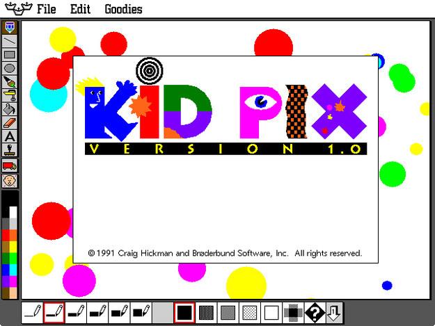 Screenshot of Kid Pix homescreen