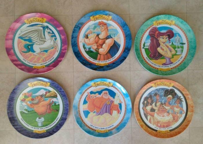Hercules plates from McDonald's