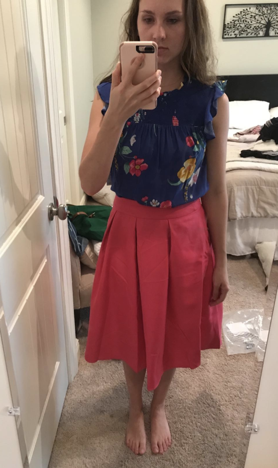 e1f4da0c5f92 4. A vibrant high-waist flared skirt to wear to a formal event or just a  picnic party — either way