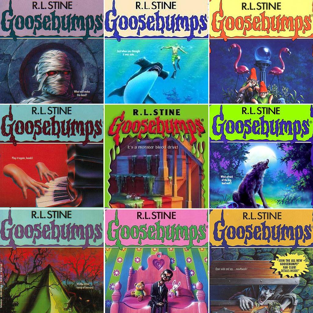 Different R.L. Stine Goosebumps covers