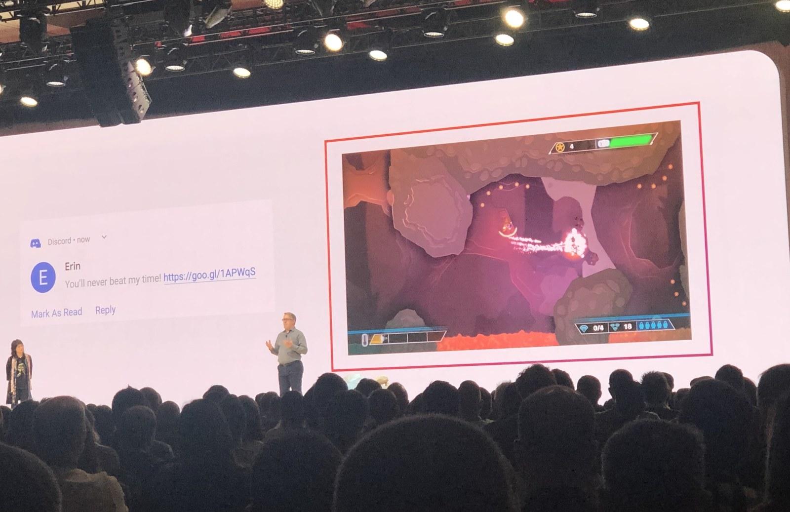 Google Stadia's sharing function