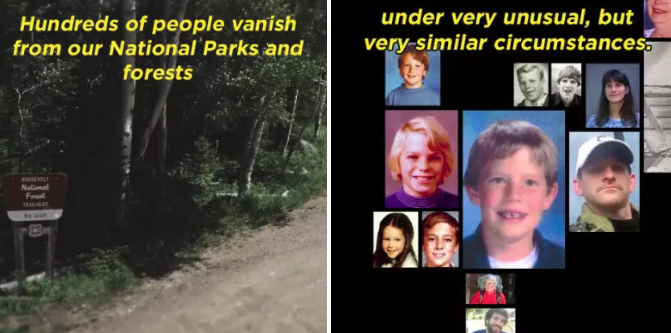 People literally disappear in national parks in North America every year. This documentary dives into the similarities between five different people who went missing over the span of multiple decades.—mitchd48