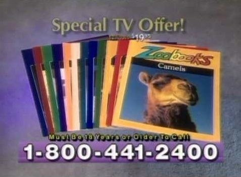 A screenshot of Zoobooks commercial