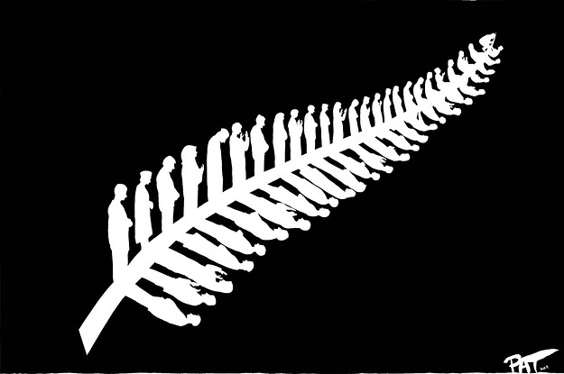 This Comic Of The New Zealand Silver Fern Made Up Of The Christchurch Muslims Praying Has Gone Viral