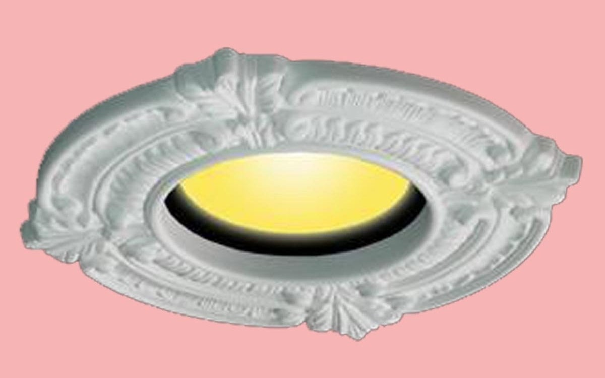 The medallion installed over a recessed light