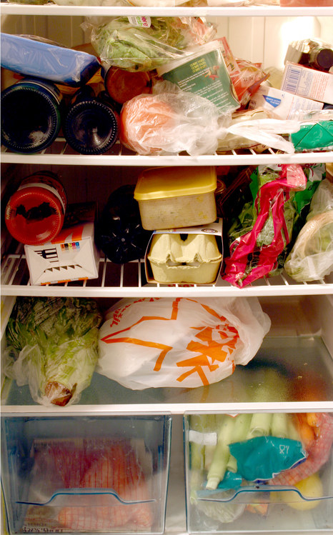 This keeps the temperature of the fridge consistent, so that it's not using additional energy when you're opening and closing the door. If you have trouble filling up extra space, you can always fill up jugs of water and stick them in the fridge. As for the freezer, here's a great list of all the foods you can freeze.