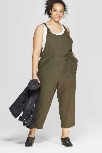036618d31f0 A minimalist-chic cropped overall jumpsuit you can rock over any fave top  for a casual look or even just with a lacy bralette for a night out.