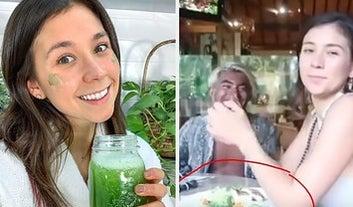 Os fãs de uma famosa influencer vegana estão furiosos porque ela supostamente comeu um peixe