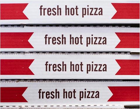 いかにもピザが入っているかのような重さを出すために箱に何かを入れて、さらに本物のピザも用意して部屋に匂いを充満させるなんてNG。
