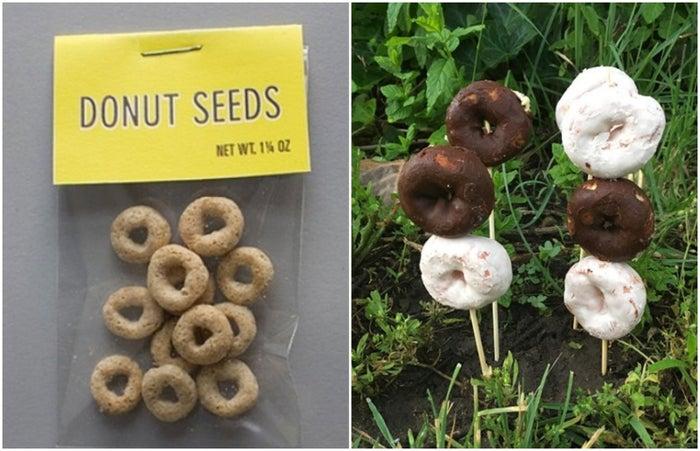 事前に「ドーナツの種」に見立てたシリアルを子どもと一緒に庭に埋めて、エイプリルフール当日に本物のドーナツを刺しておくなんてダメ絶対。