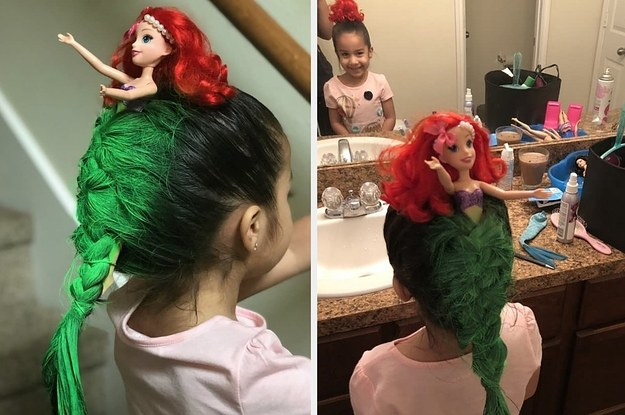 """This Mom Went Above And Beyond For Her Daughter's """"Crazy Hair"""" Contest And The Result Is Amazing"""