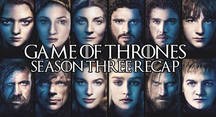 In preparation of Season 8 of Game of Thrones, I'm rewatching and recapping every season that's come before. So far I've dived deep into Season 1 and Season 2, and now it's on to Season 3 (somebody hold me, this one hurts)...