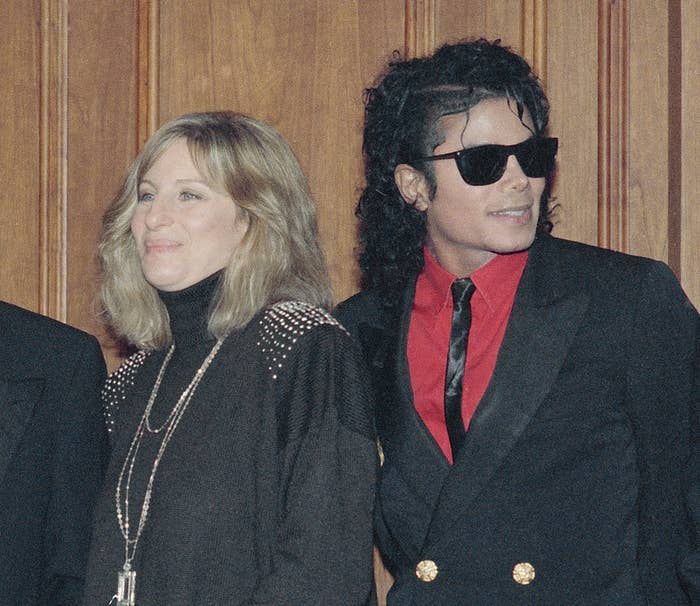 Barbra Streisand and Michael Jackson in Los Angeles on Dec. 14, 1986.