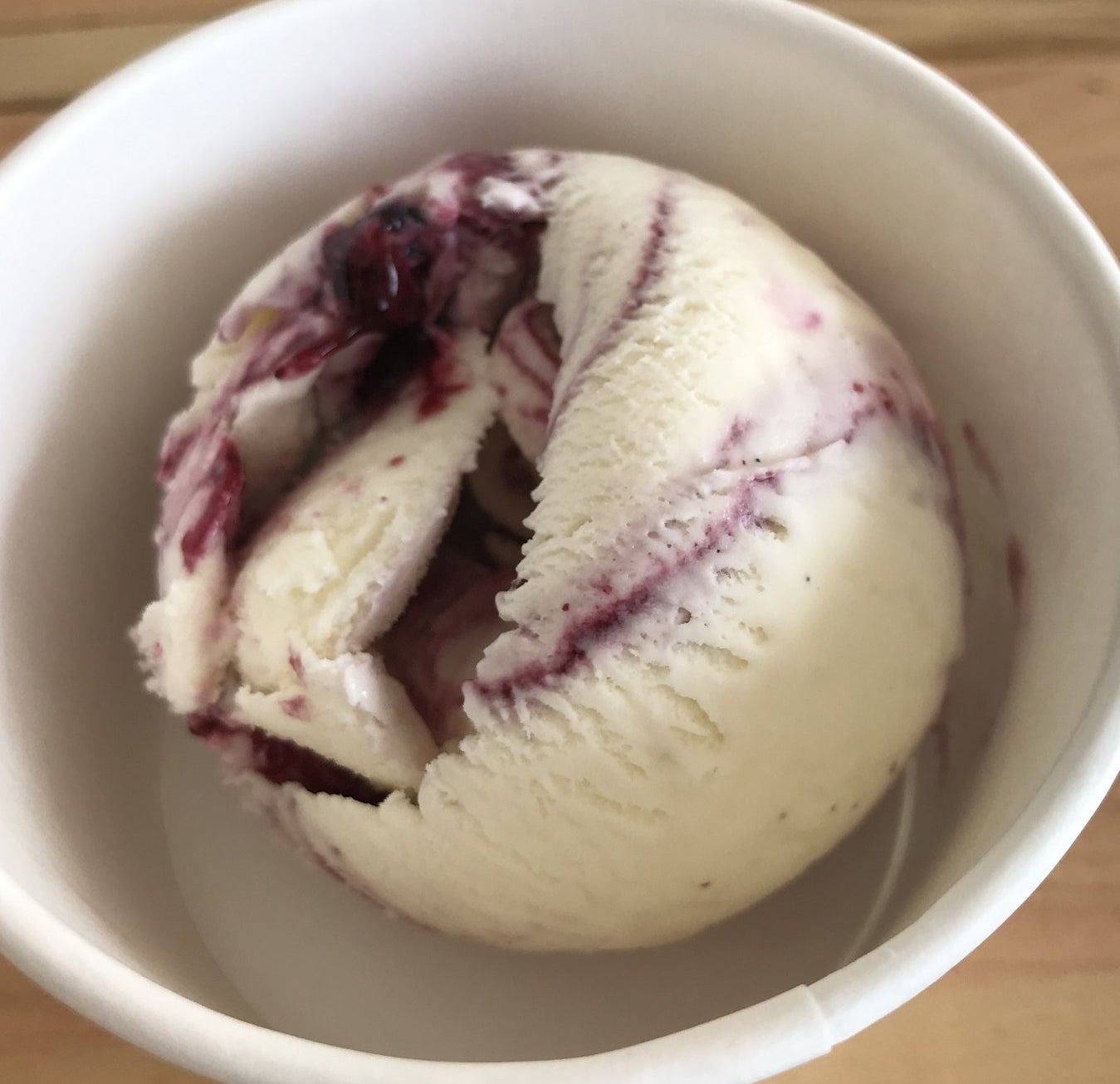 What's in it: Marscapone ice cream swirled with a house-made jam of blackberry wine, red currants, and wild forest berries.