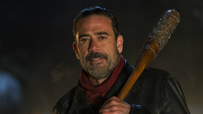 """""""He's smart as hell and only killed people because it was essential for his survival. When Rick's group killed his people, he had every right to kill Glenn and Abraham in retaliation. Negan and Rick aren't all that different. They both did whatever it took to make sure their group survived.""""—annastiinap"""