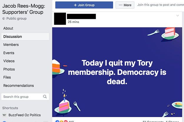 The Jacob Rees-Mogg Facebook Fandom Is In Meltdown
