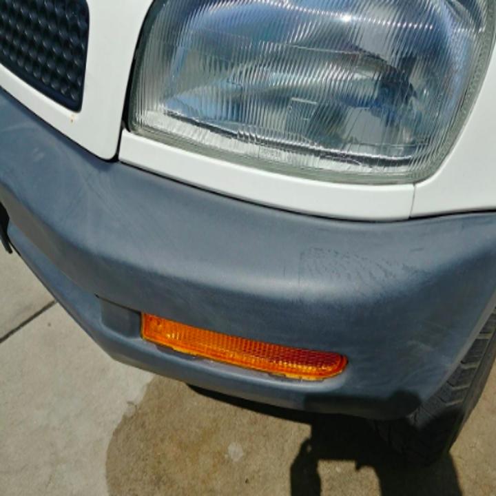 matte looking bumper of car