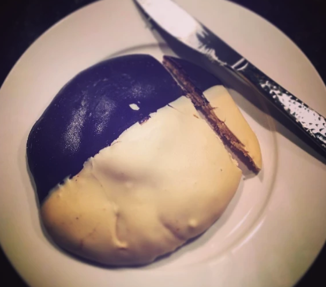 For example, some people believe that THIS^ is the only way to eat black and white cookies.