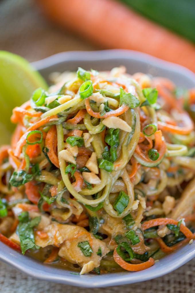 Swap the rice noodles for spiralized zucchini and you've got a low-carb pad Thai that you'll constantly crave. Get the recipe here.