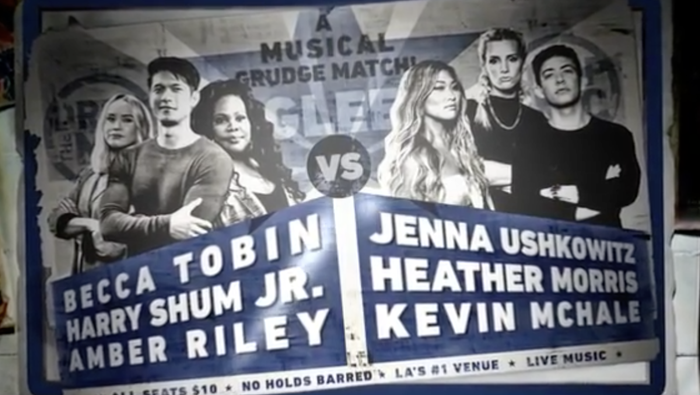 Mercedes (Amber Riley), Mike Chang (Harry Shum Jr.) and Kitty/Quinn 2.0 (Becca Tobin) faced off against Artie (Kevin McHale), Brittany (Heather Morris), and Tina (Jenna Ushkowitz) in their biggest musical battle since regionals.