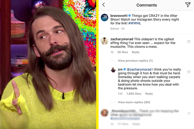 "Jonathan Van Ness Just Shut Down A Commenter Who Called His Look ""Ugly"" And ""A Mess"""