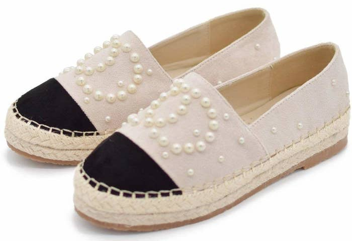 50083993a Pearl-embellished espadrille flats so you can  weave  together the perfect