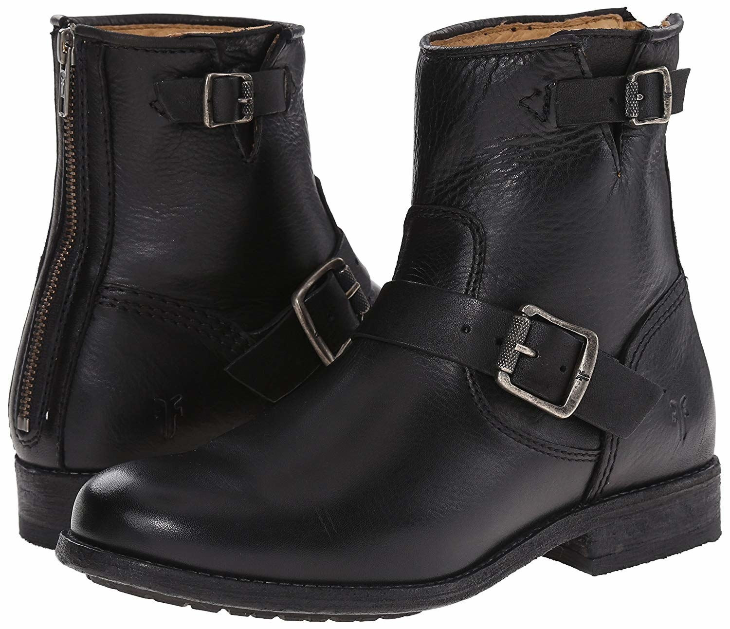 A pair of the Frye Engineer Boot in black.