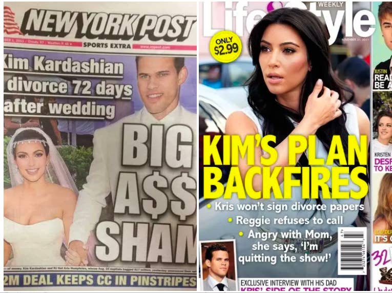 Court documents from the pair's divorce revealed that Kim earned $175,000 from People magazine for the exclusive engagement announcement and $1.1 million for the wedding photos. She also earned $90,000 for having her bachelorette party at the Las Vegas venue Tao, and was paid $1 million for broadcasting the wedding on E! Two days after the divorce announcement, however, Kris Jenner said that Kim didn't make a profit from any of the money she earned for the wedding, since it was all ploughed back into extravagant nuptials.