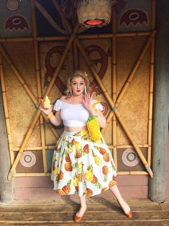pineapple circle skirt