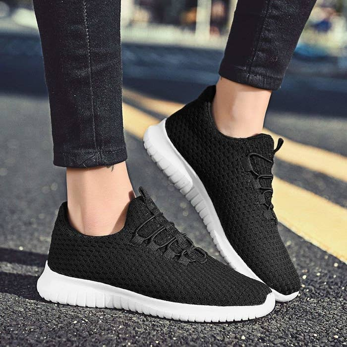 49b9d191e036 Slip-on knit sneaks that ll let you be ~flexible~ enough to stay comfy   and  stylish at the same time. Miracles happen