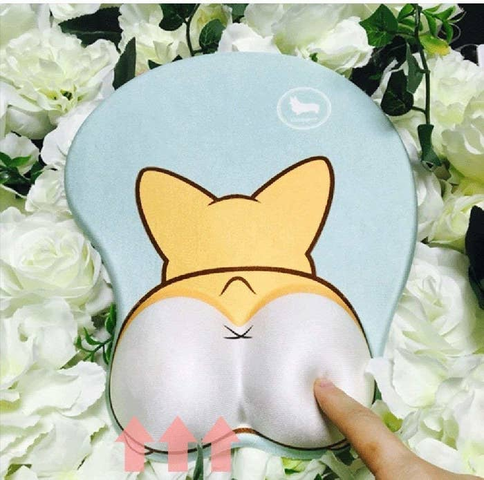 """Get it from Amazon for $12.99.Promising review: """"I ADORE this mouse pad!!! I work as a software developer and was starting to experience the beginnings of carpel tunnel. This has totally stopped the numbness in my hand! And as a corgi mom of two bouncing corgi boys, this was a must have!"""" —LP"""