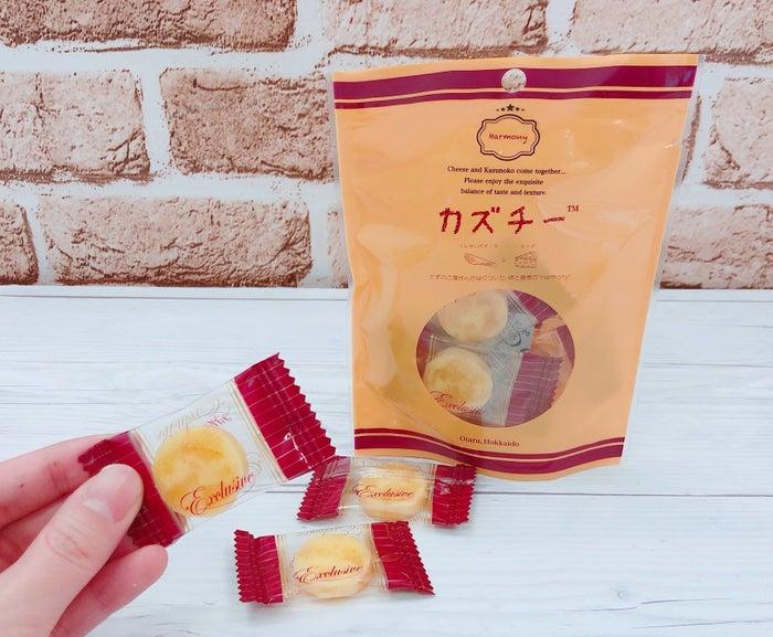 北海道のかずのこ屋さんが作っているおつまみです。燻製かずのこがチーズに練りこまれているのですが、あまりの美味しさにSNSで話題になっています。