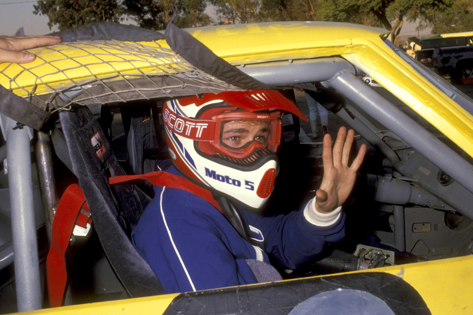 Luke Perry at a charity race on Oct. 12, 1991.