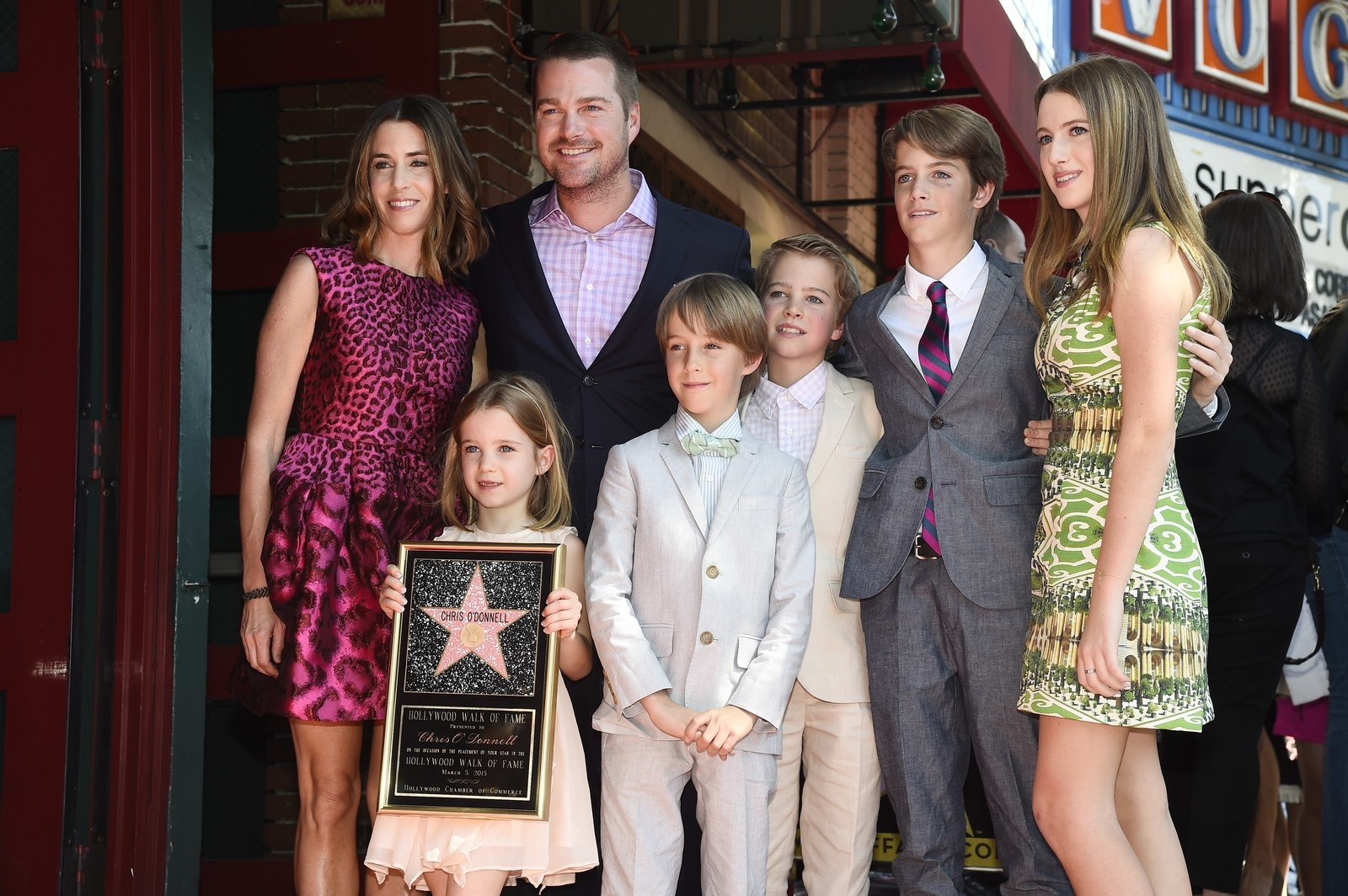 Chris O'Donnell: 5 kids -  I like that they are in order of height.